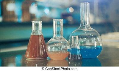 verre, flacons, laboratoire