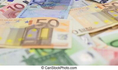 verre, gros plan, euro., magnifier