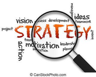 verre, -, magnifier, stratégie