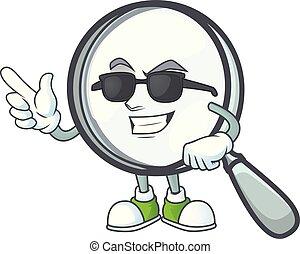 verre, magnifier, super, isolé, blanc, frais, fond