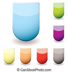 verre, sheild, icône