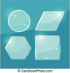 verre, transparent, tecnology, frontière