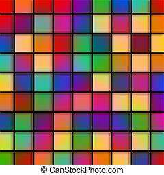verre, tuiles, coloré