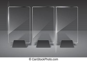 verre, vecteur, eps10, illustration., billboard.