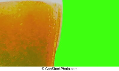 verser, écran, mousse, chroma, zoom, verre, bière, appareil photo, clef verte, frais, fond, mouvement