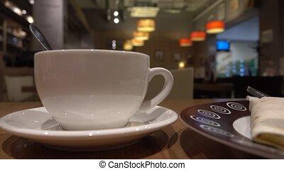 verser, coup, tasse, thé, haut, 4k, cafe., fin, théière