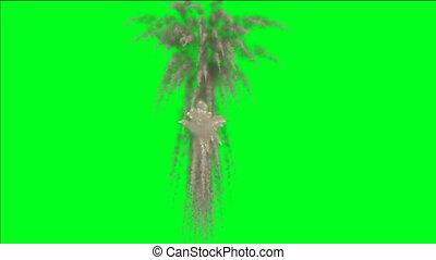 vert, écran, explosion