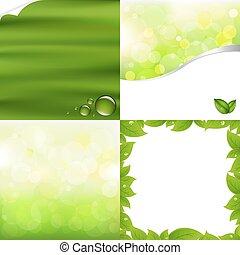 vert, arrière-plans