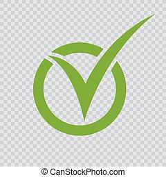 vert, checkmark, icon.