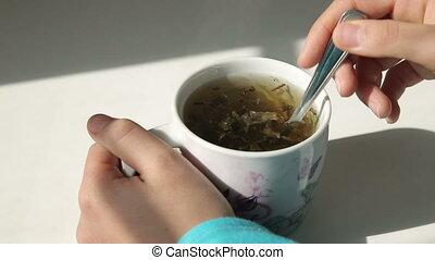 vert, cuisine, thé