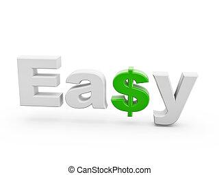 vert, dollar, facile, signe