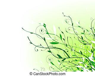 vert, floral