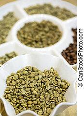 vert, grains café