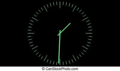 vert, horloge