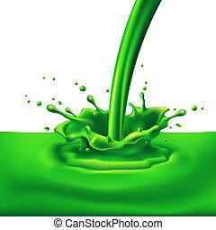 vert, irrigation, peinture