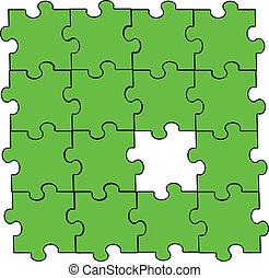 vert, laissez perplexe morceau, montage
