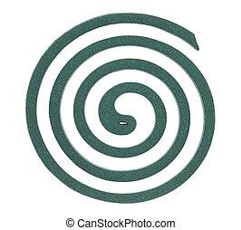 vert, moustique, spirale