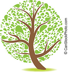 vert, naturel, arbre