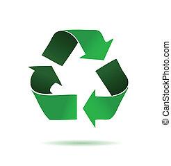 vert, recyclage