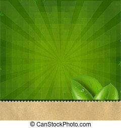 vert, sunburst, retro, texture, fond