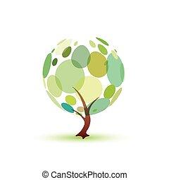 vert, symbole, arbre