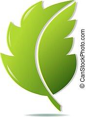 vert, symbole, feuille