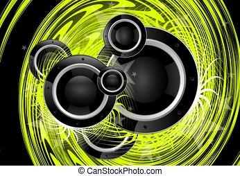 vert, vortex, musique
