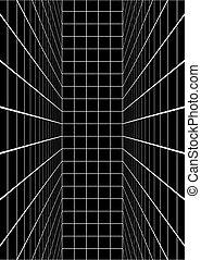 vertical, noir, lignes, salle