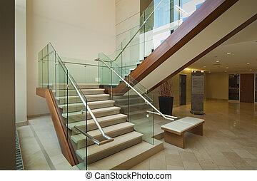 vestibule, escalier