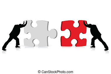 via, business, reussite, puzzle, illustré, concept, accomplissement, togetherness
