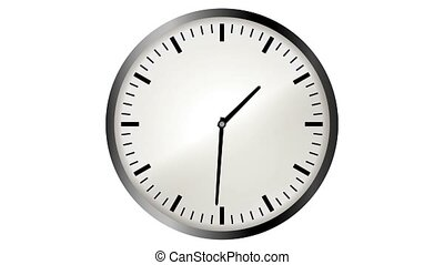 vidéo, animation, horloge, timelapse, loopable