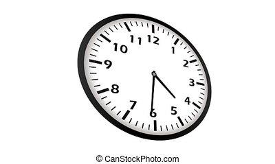 vidéo, animation, horloge, ultra, hd, timelapse, loopable, 4k