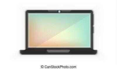 vidéo, animation, informatique, conception, icône