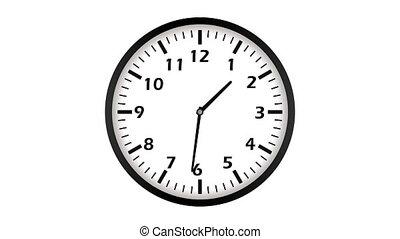 vidéo, animation, ultra, hd, loopable, clock., 4k
