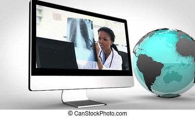 vidéo, multimédia, médecins