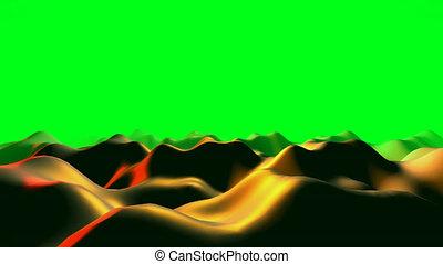 vidéo, vagues, résumé, 3d animation, coloré, liquide