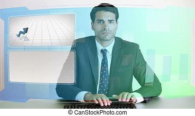 vidéos, business, diagrammes