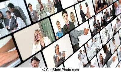 vidéos, collage, business