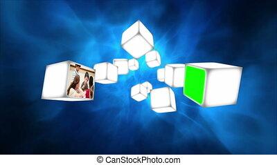 vidéos, cubes, école