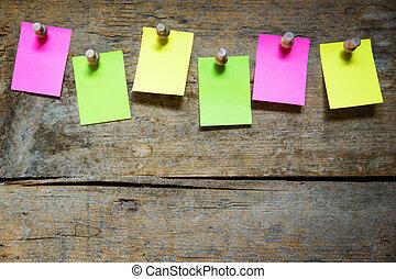 vide, avis, six, notes, planche