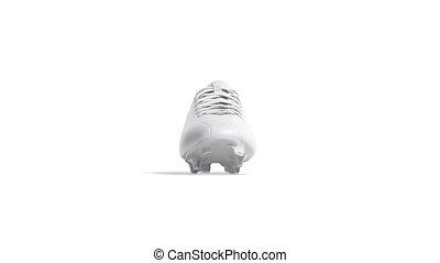 vide, blanc, football, fait boucle, cuir, botte, mockup, rotation