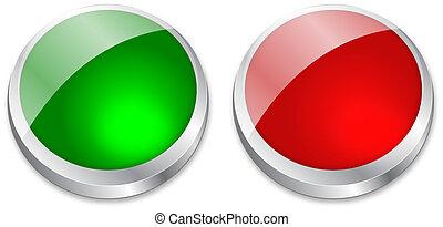 vide, bouton rouge, vert