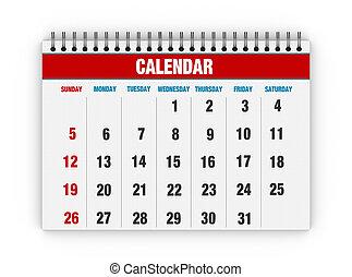 vide, calendrier