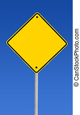vide, caresse, (with, panneaux signalisations