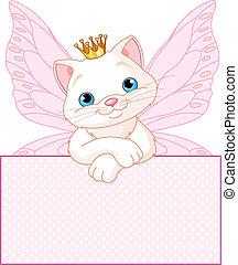 vide, chat, signe, sur, princesse