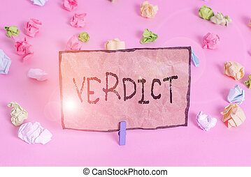 vide, coloré, rose, rappel, civil, fond, plancher, criminel, clothespin., fait, verdict., écriture, texte, papiers, signification, cas, écriture, question, décision, concept, ou, chiffonné