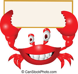 vide, dessin animé, crabe, signe