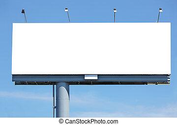 vide, panneau affichage