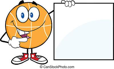 vide, projection, basket-ball, signe