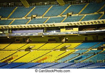 vide, sièges stade